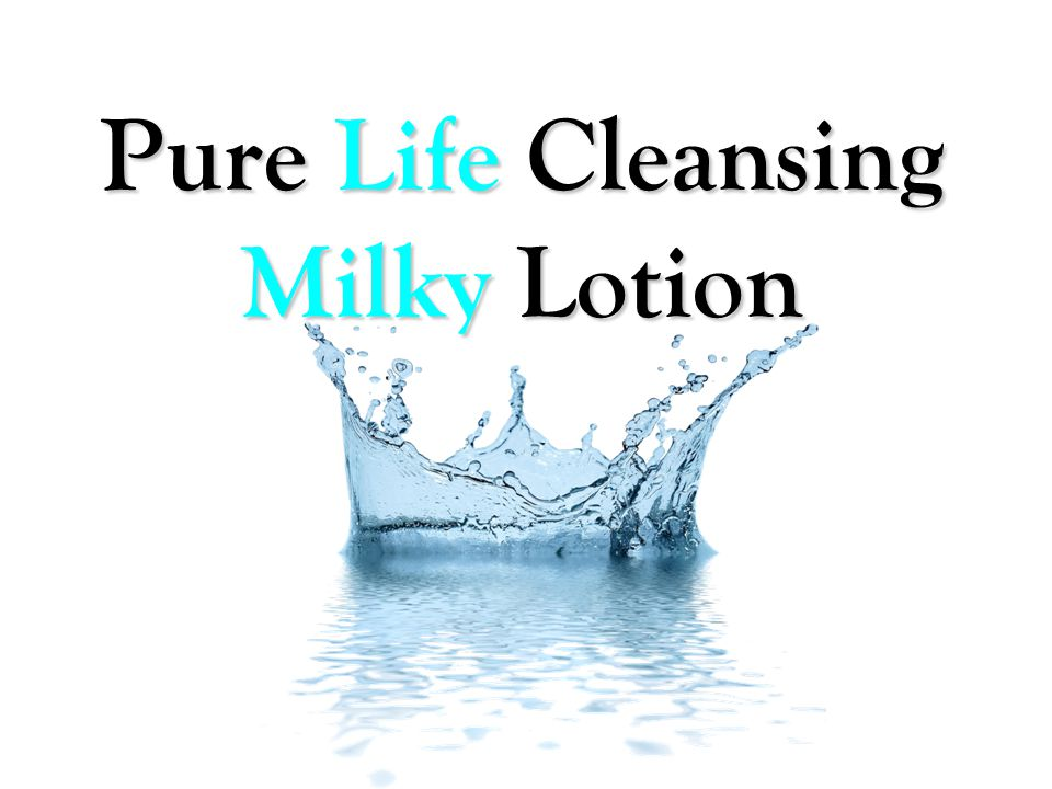Pure Life Cleansing Milky Lotion