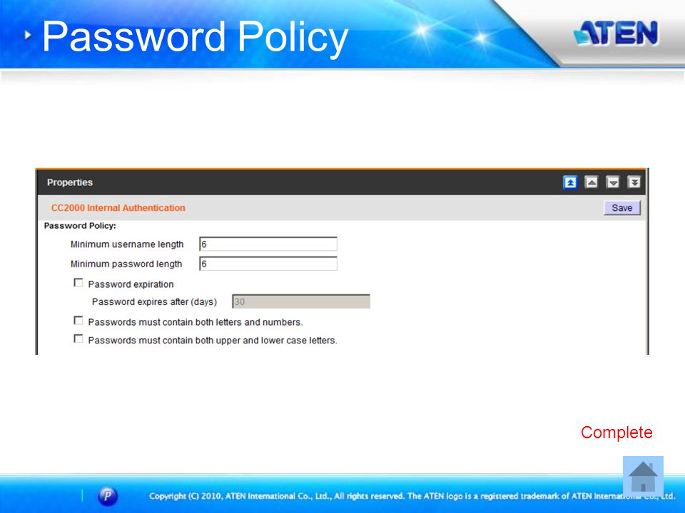Password Policy Complete