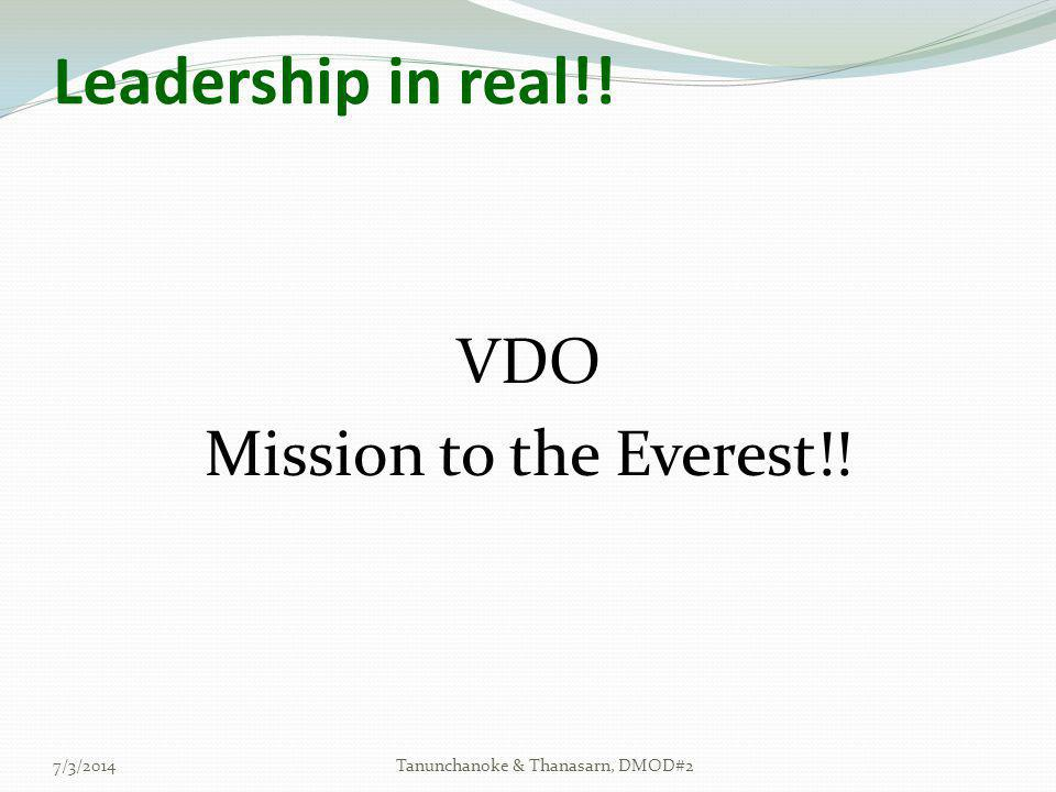 Leadership in real!! VDO Mission to the Everest!! 4/3/2017