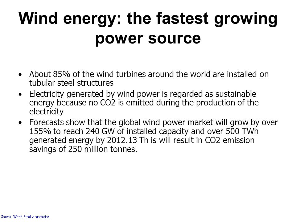 Wind energy: the fastest growing power source