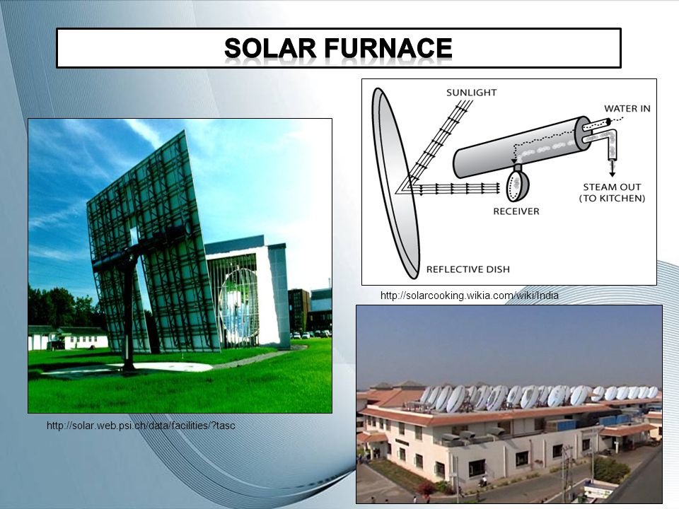 Solar Furnace Compound parabolic concentrator