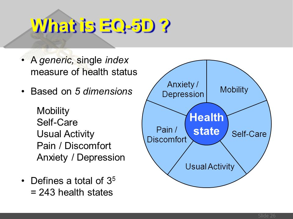 What is EQ-5D Health state A generic, single index