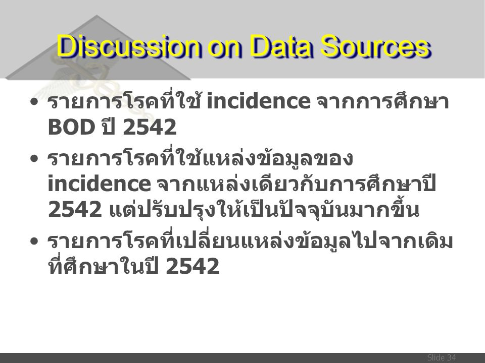 Discussion on Data Sources