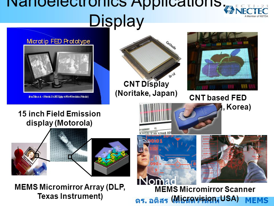 Nanoelectronics Applications: Display