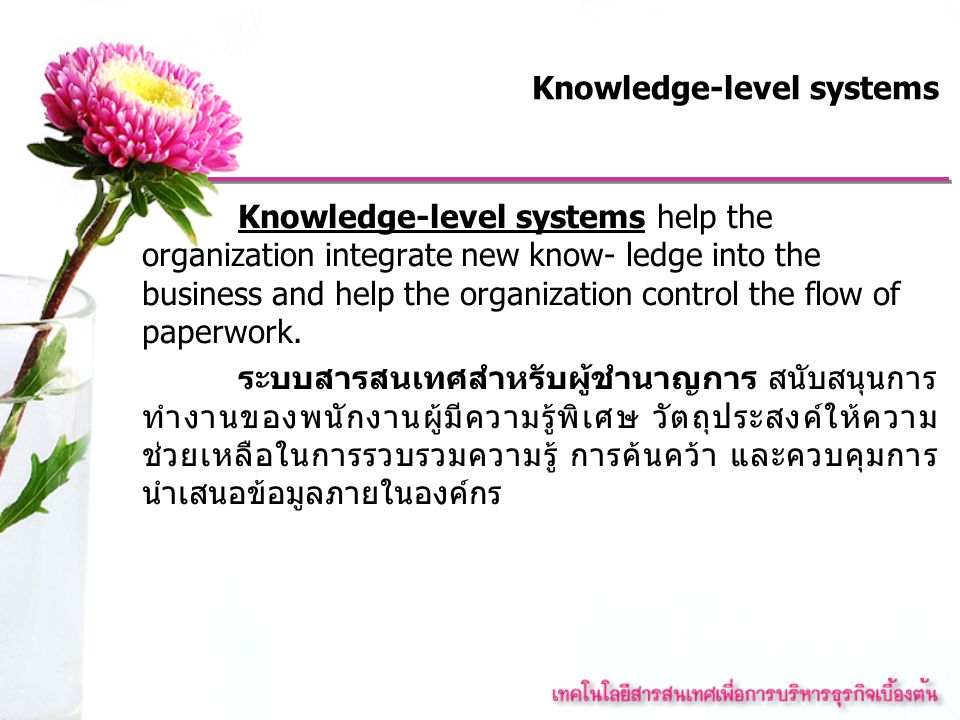 Knowledge-level systems