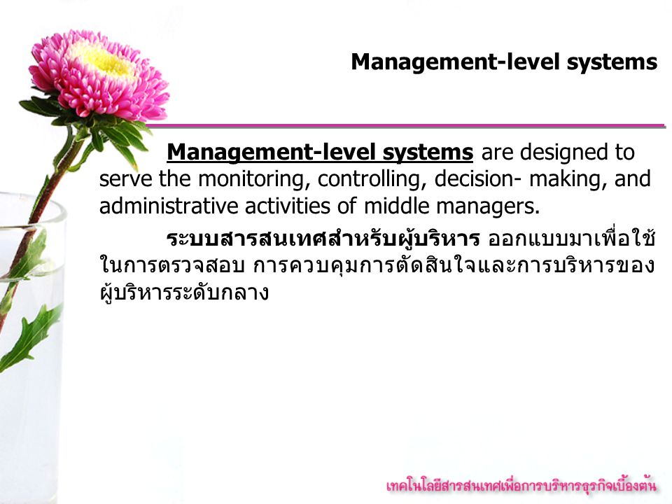 Management-level systems