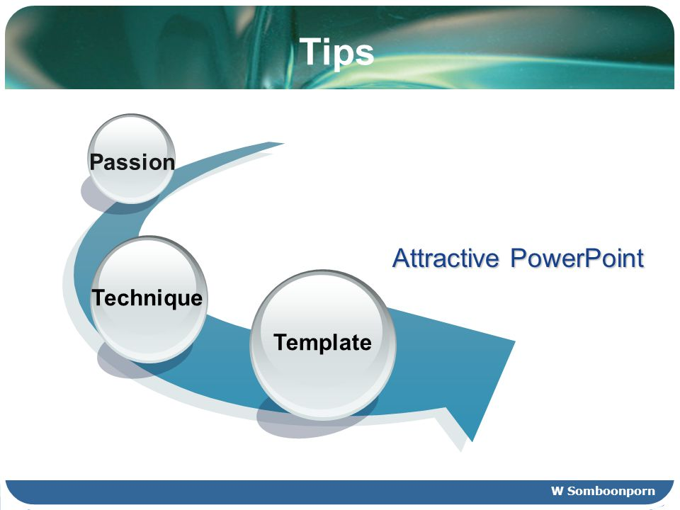 Tips Template Technique Passion Attractive PowerPoint W Somboonporn