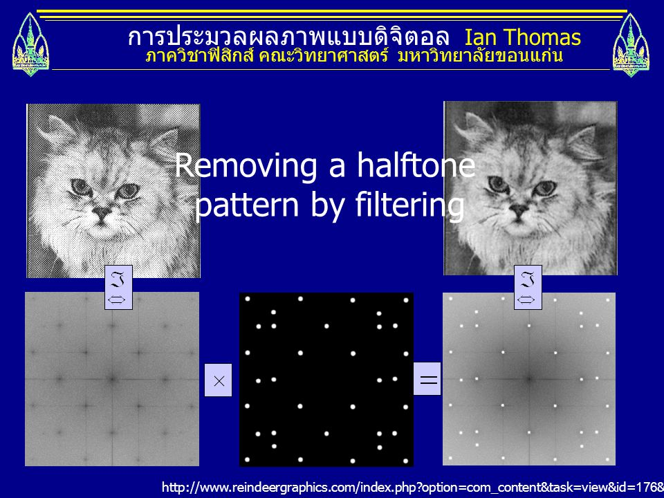 Removing a halftone pattern by filtering