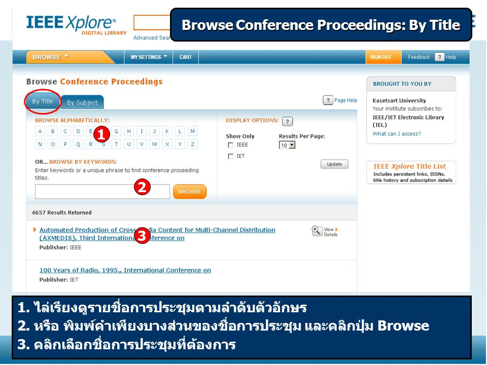 Browse Conference Proceedings: By Title