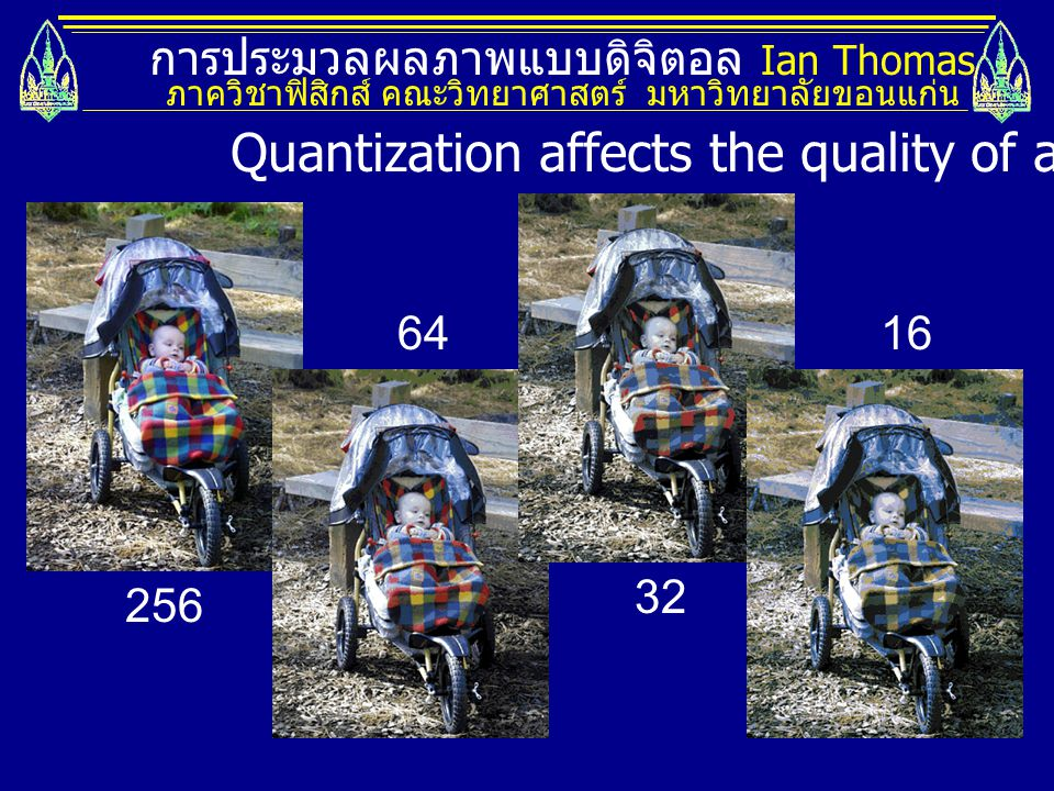 Quantization affects the quality of an image.