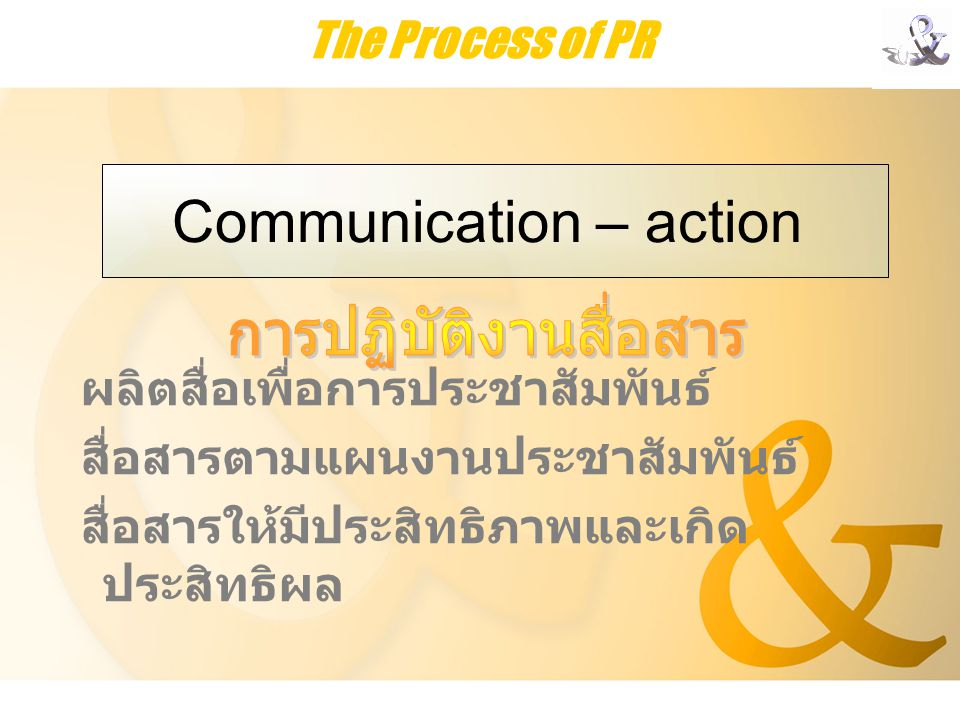 Communication – action