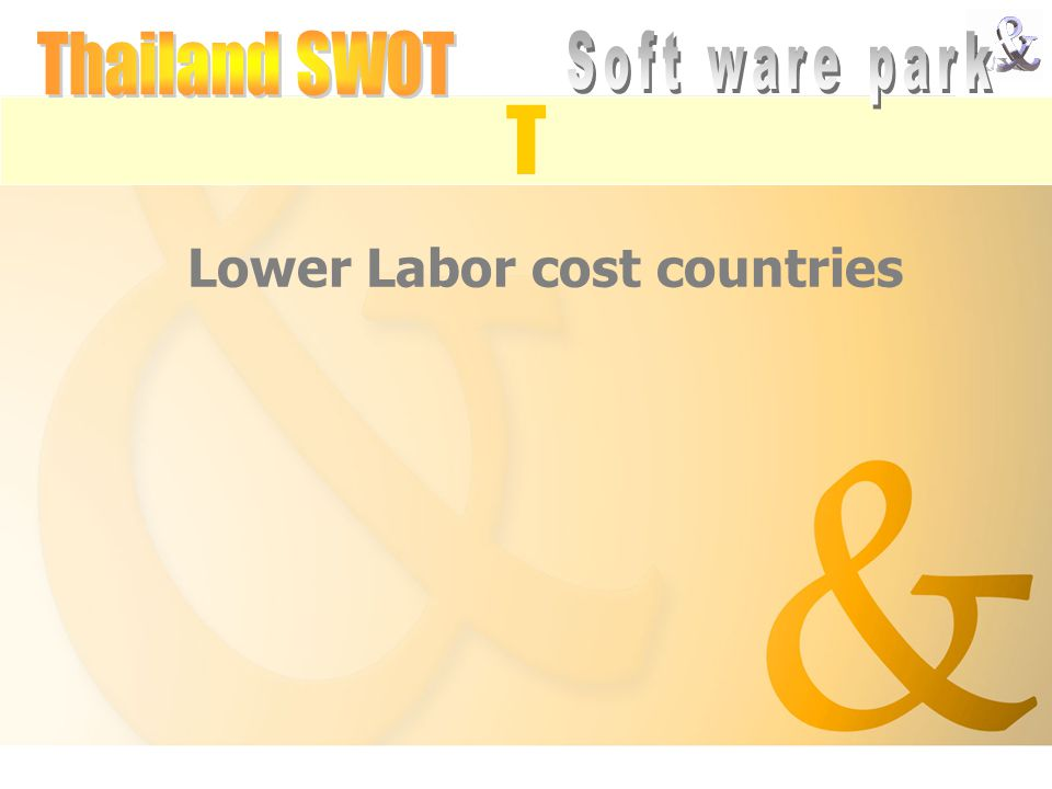 Lower Labor cost countries