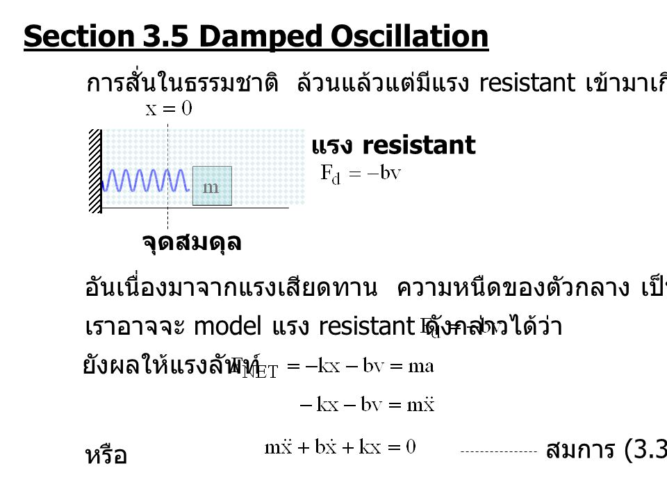 Section 3.5 Damped Oscillation