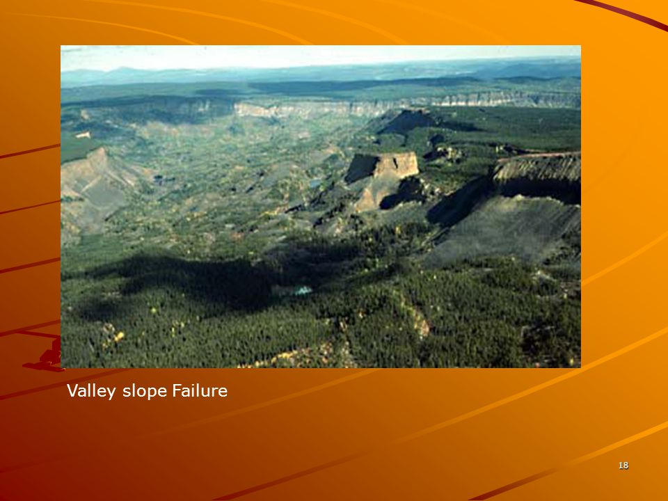 Valley slope Failure