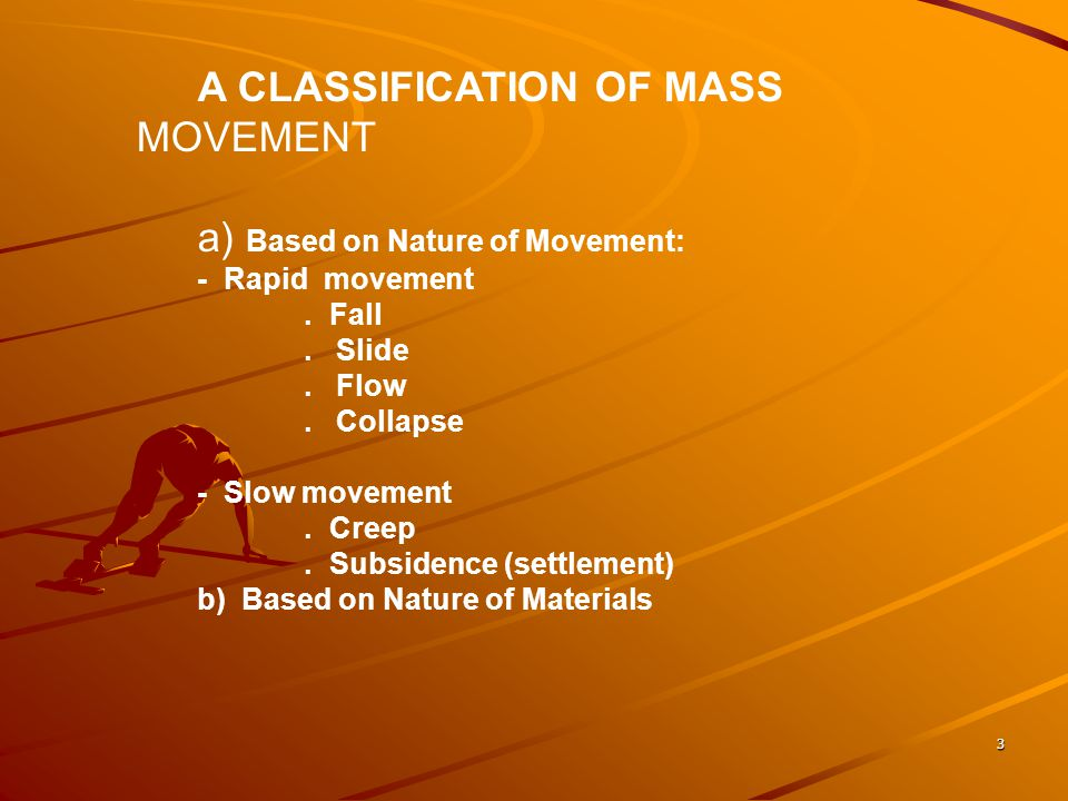 a) Based on Nature of Movement: