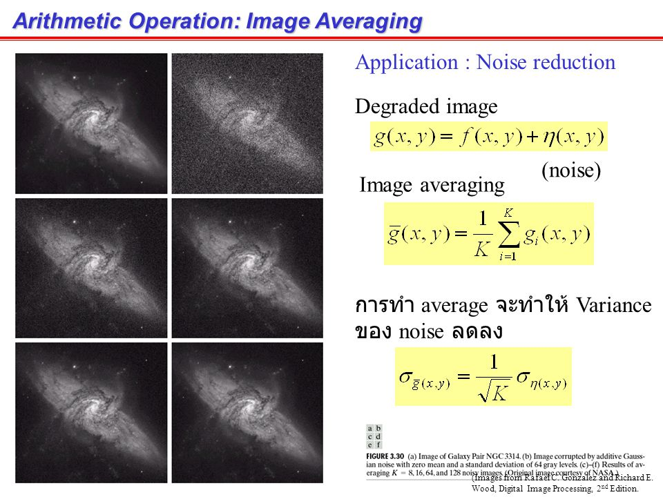 Arithmetic Operation: Image Averaging