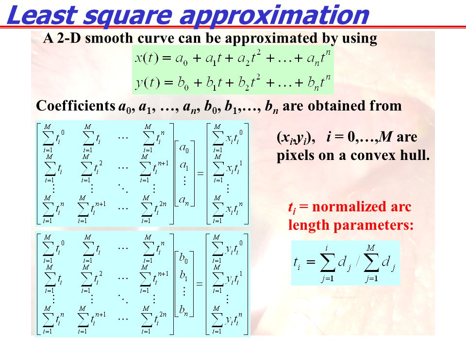 Least square approximation