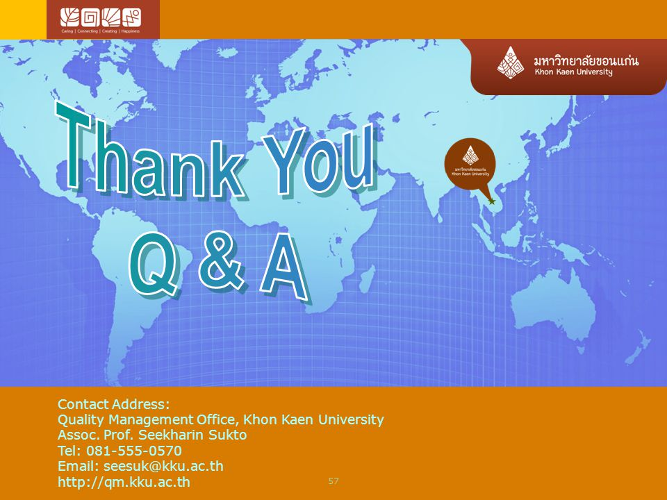 Thank You Q & A Contact Address: