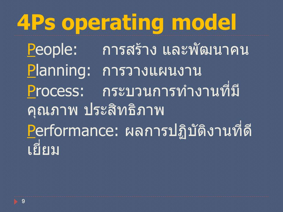 4Ps operating model