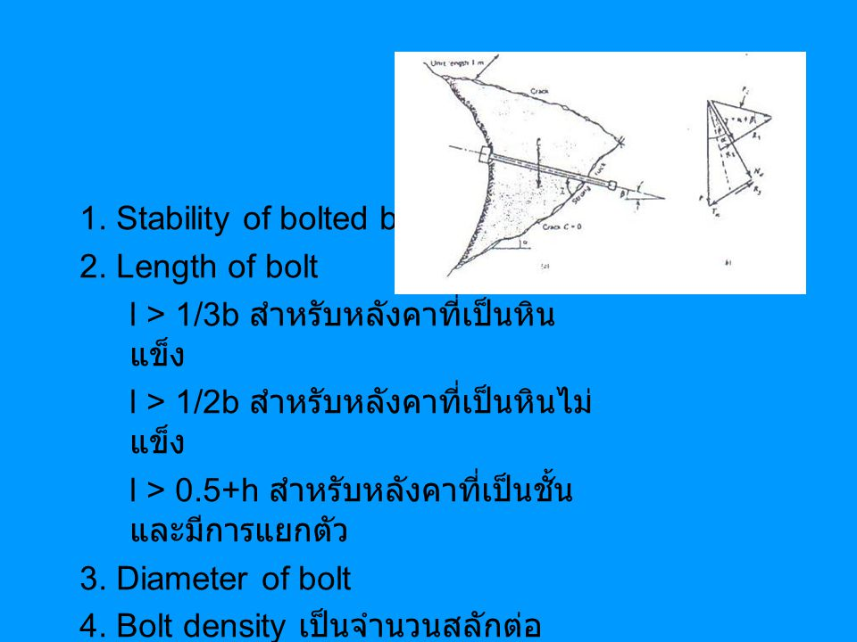 1. Stability of bolted block
