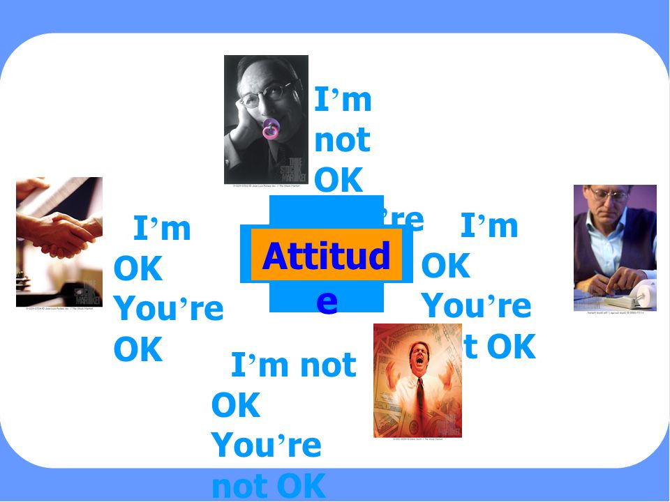 Attitude I'm not OK You're OK I'm OK You're not OK I'm OK You're OK