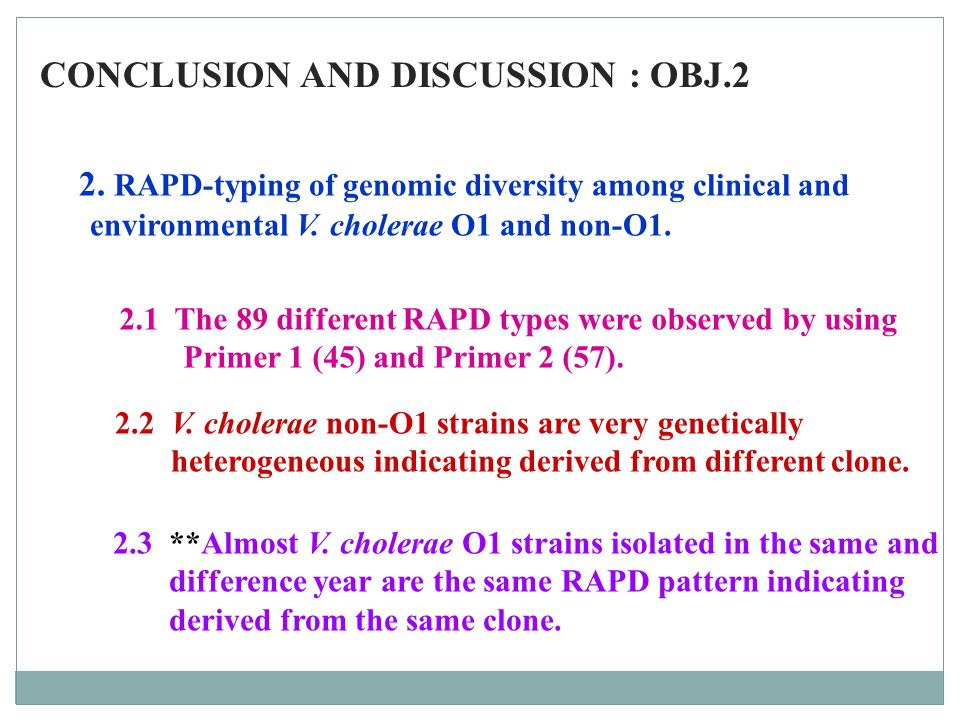 CONCLUSION AND DISCUSSION : OBJ.2