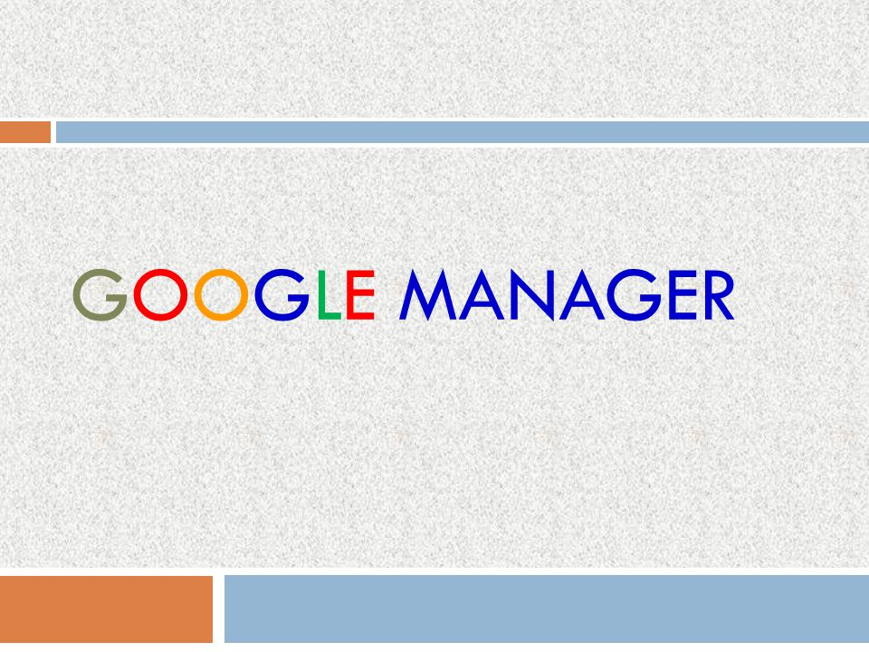 Google manager