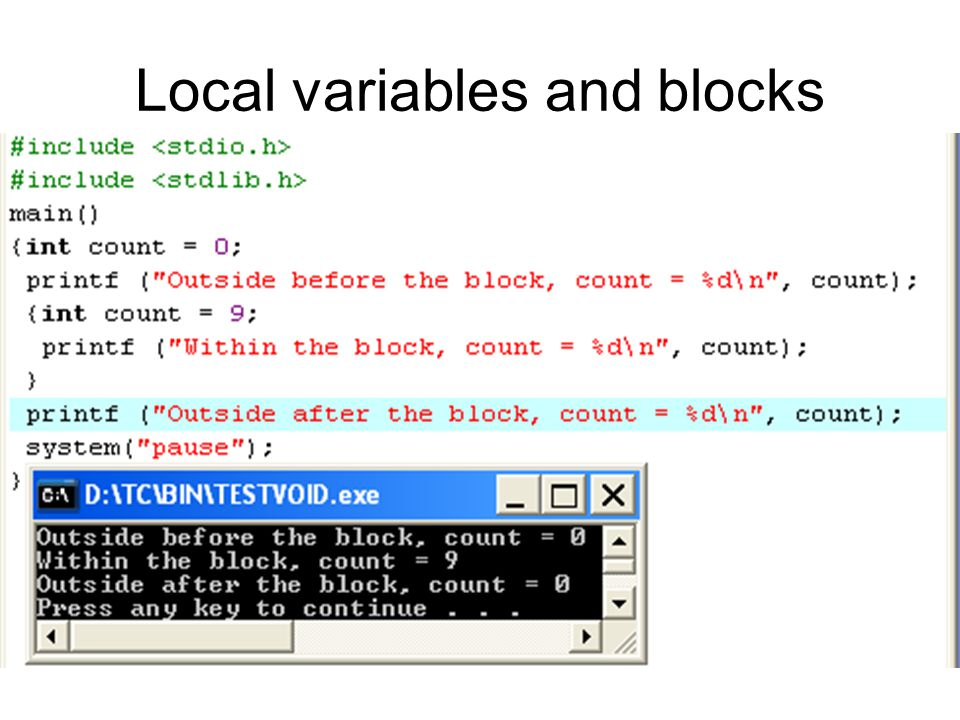Local variables and blocks