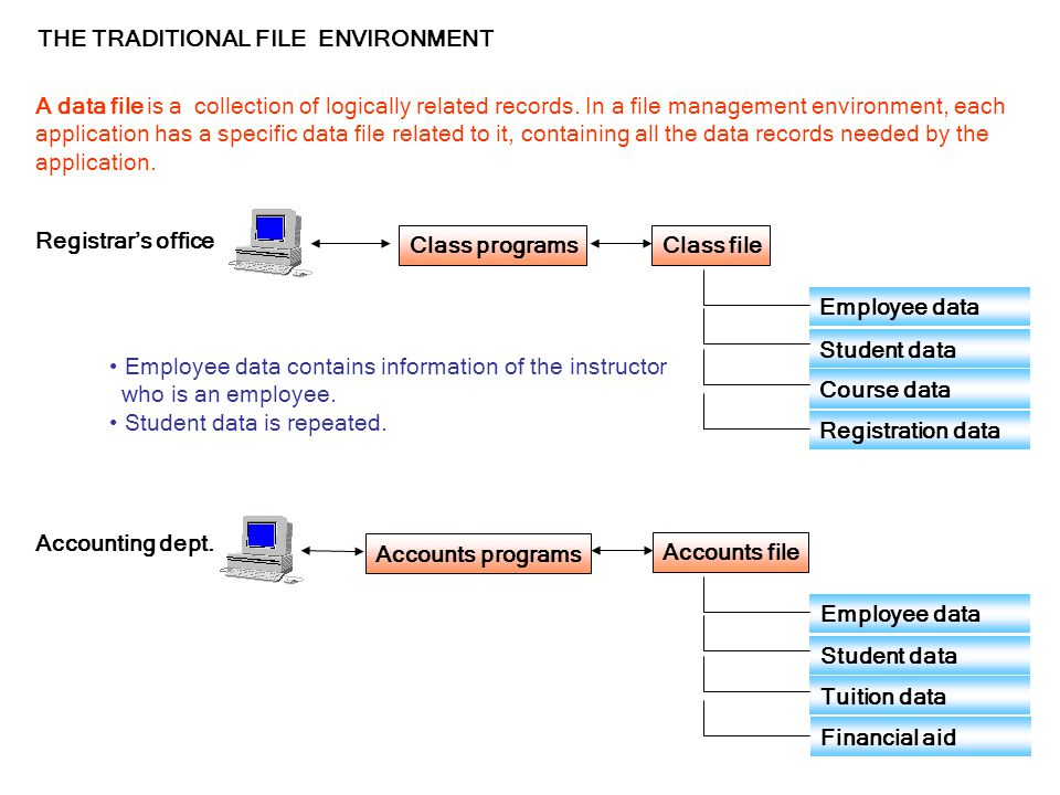 THE TRADITIONAL FILE ENVIRONMENT