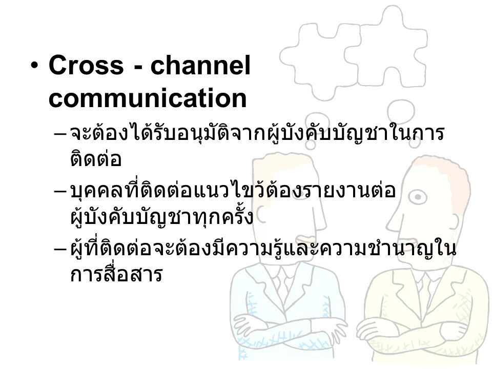 Cross - channel communication