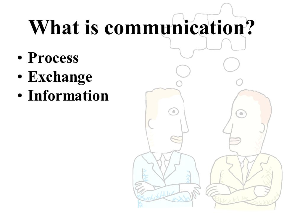 What is communication Process Exchange Information