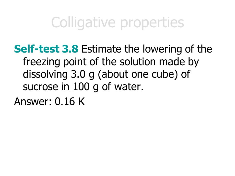 Colligative properties