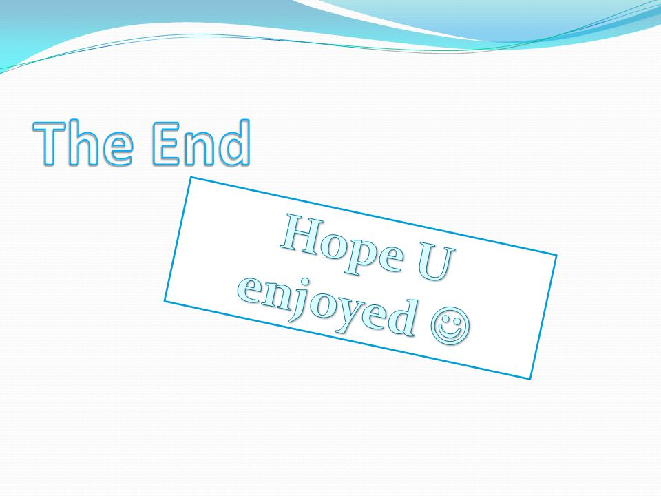 The End Hope U enjoyed 
