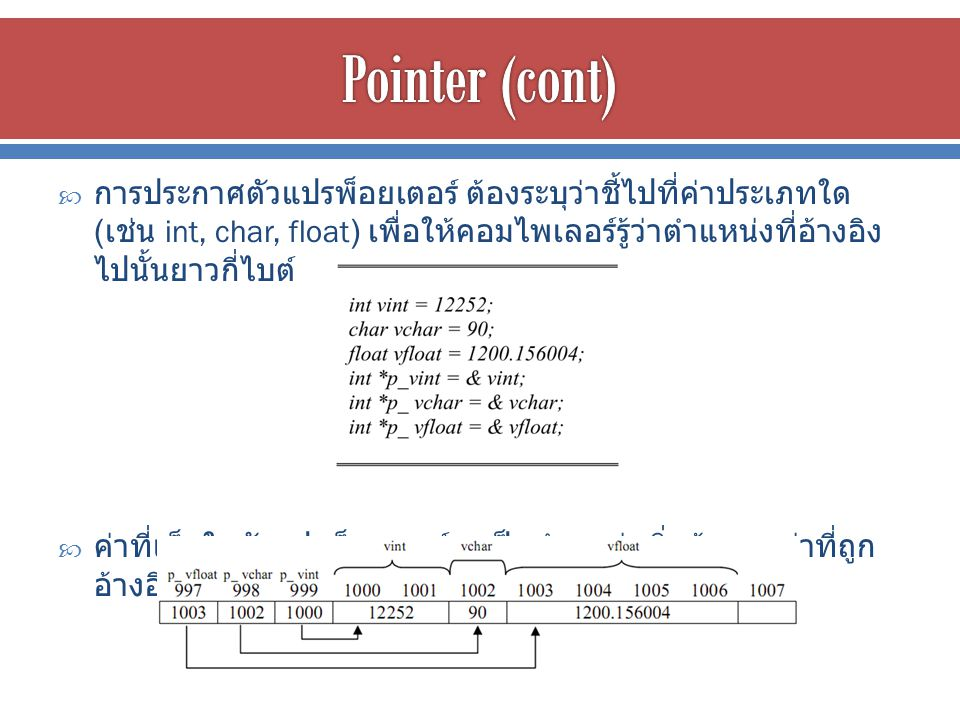 Pointer (cont)