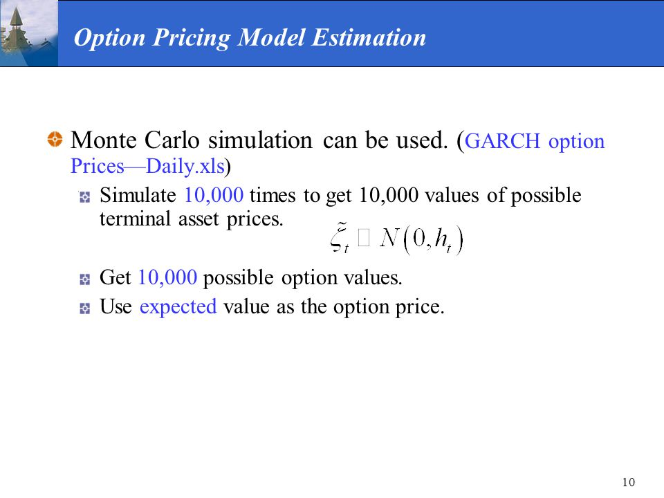 Option Pricing Model Estimation