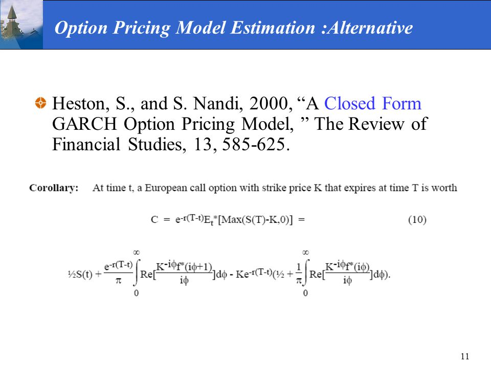 Option Pricing Model Estimation :Alternative