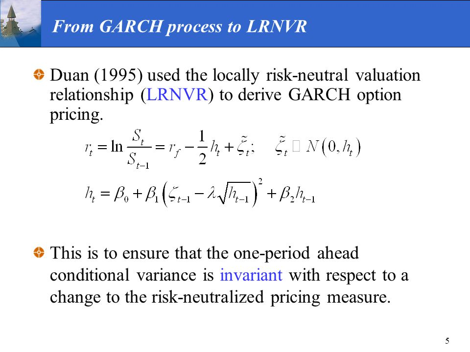 From GARCH process to LRNVR