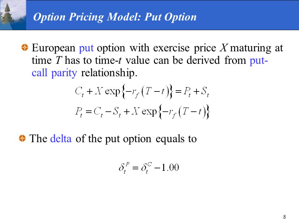Option Pricing Model: Put Option