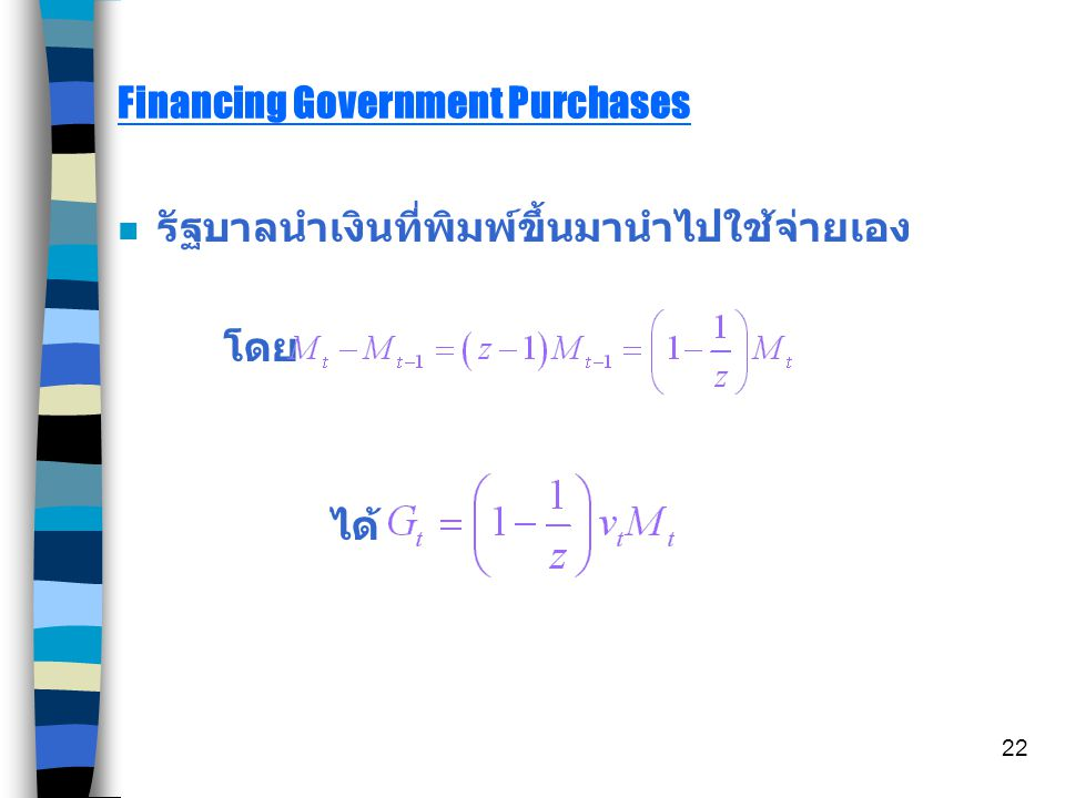 Financing Government Purchases