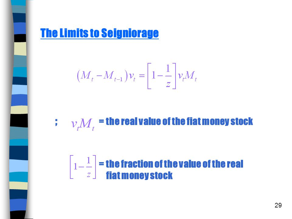 The Limits to Seigniorage