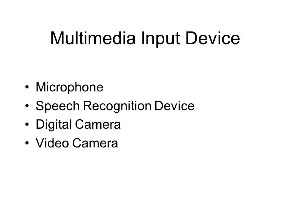 Multimedia Input Device