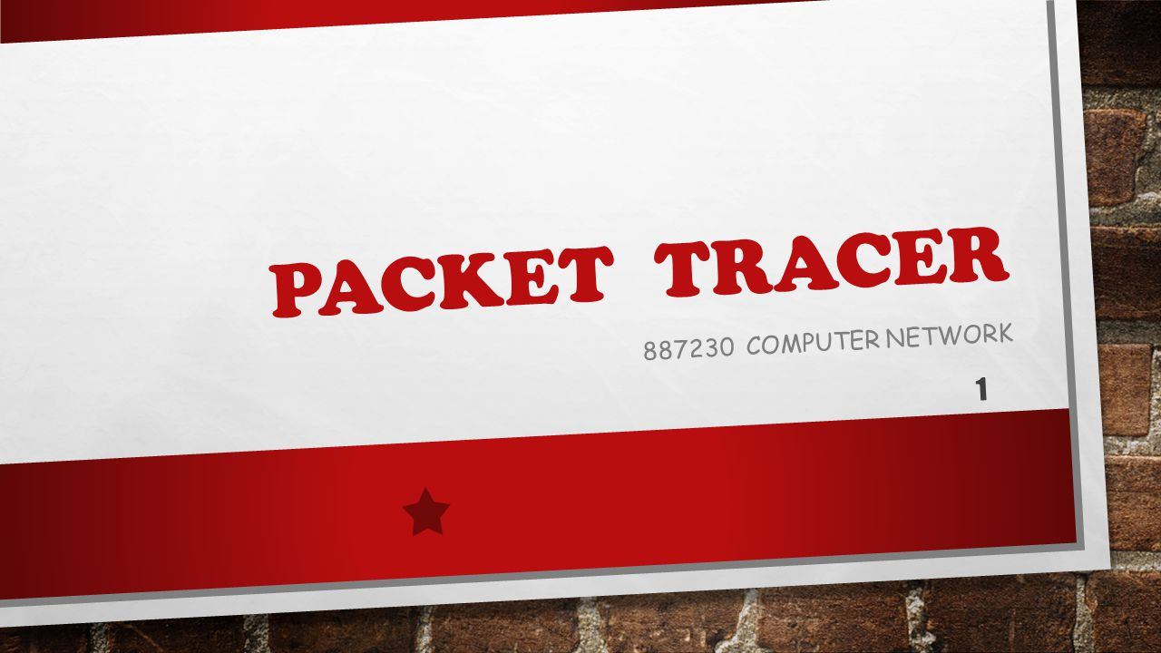 Packet Tracer Computer network