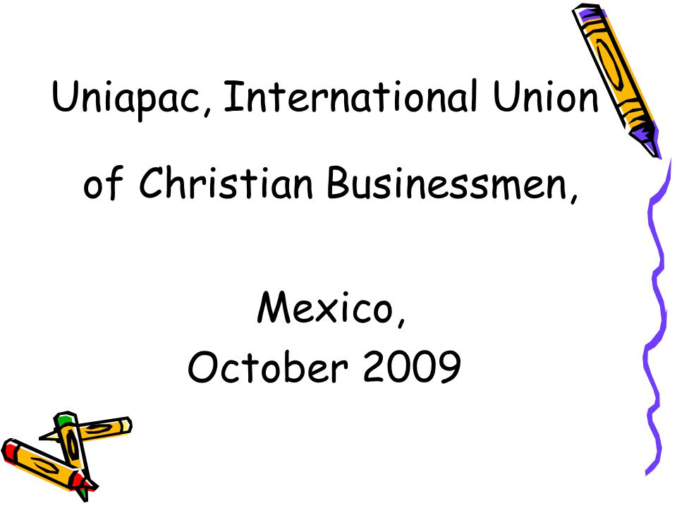 Uniapac, International Union of Christian Businessmen,