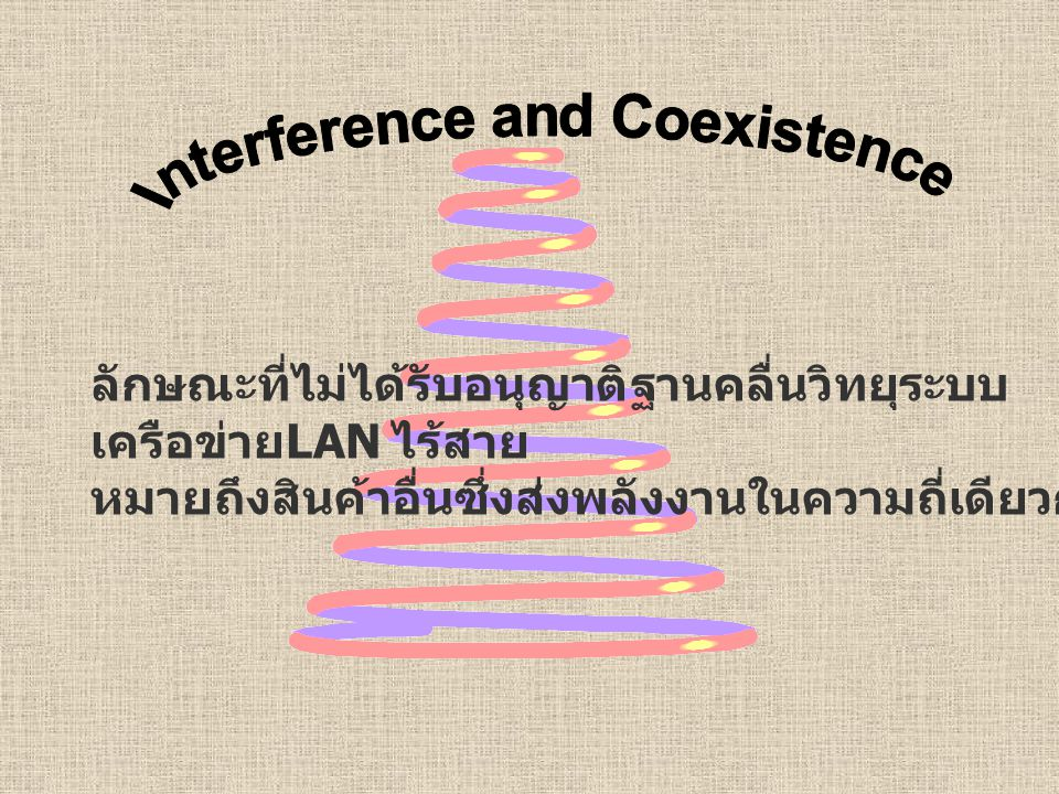 Interference and Coexistence