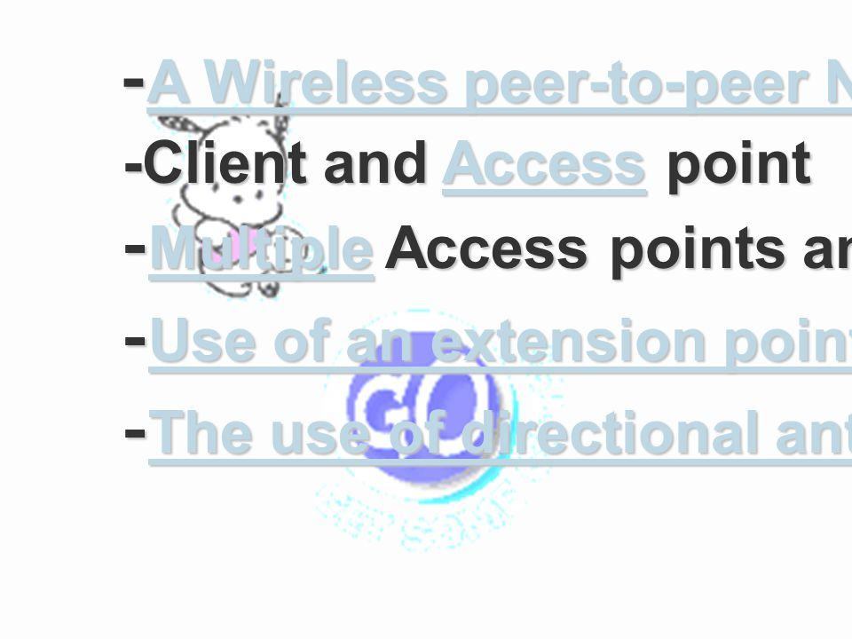 -A Wireless peer-to-peer Network
