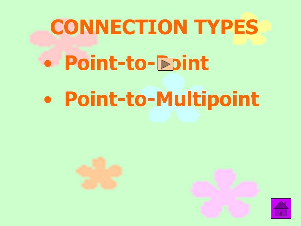 CONNECTION TYPES Point-to-Point Point-to-Multipoint