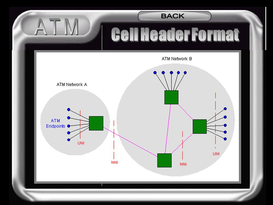 BACK ATM Cell Header Format Cell Structure