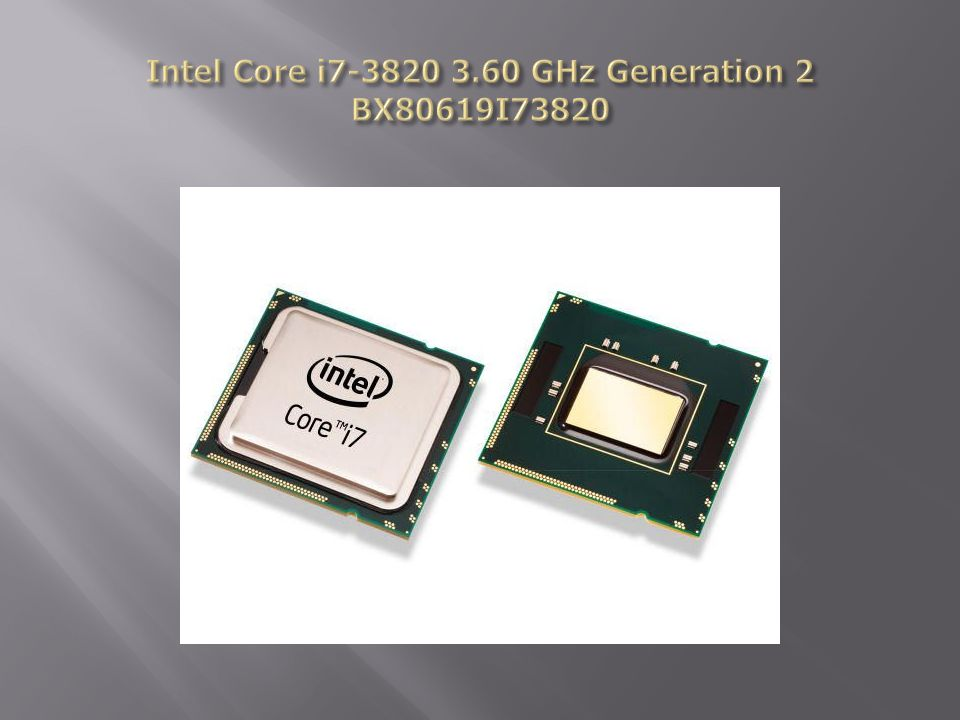 Intel Core i GHz Generation 2 BX80619I73820