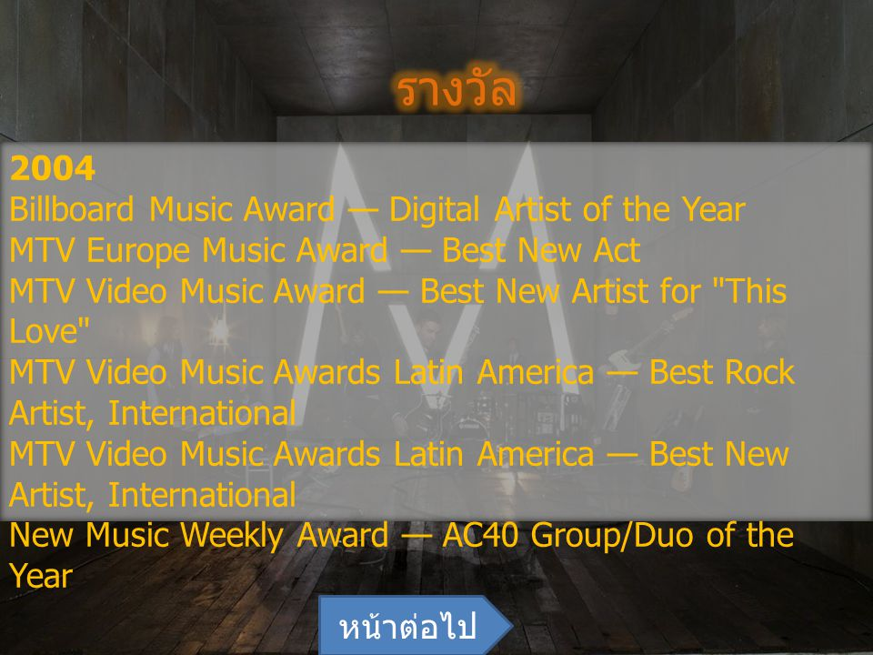 รางวัล 2004 Billboard Music Award — Digital Artist of the Year