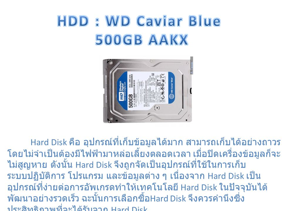 HDD : WD Caviar Blue 500GB AAKX